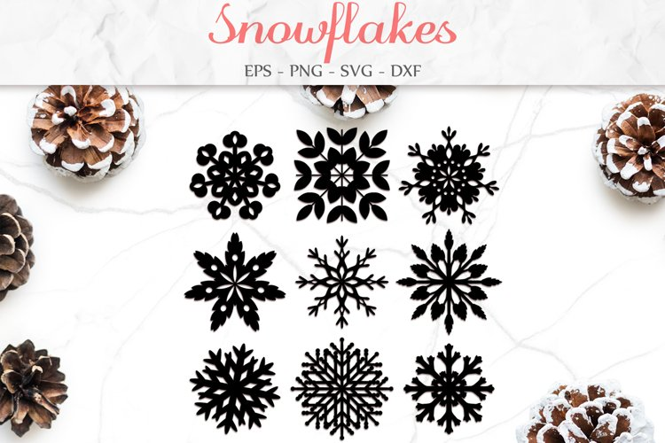 Snowflake Svg, Christmas Decor, Winter Clipart Svg example image 1