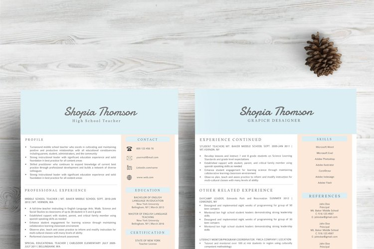 Professional Resume Template Word - Free Design of The Week Design2