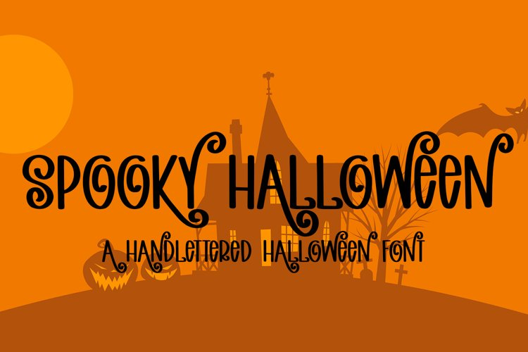 Spooky Halloween - A Hand-Lettered Halloween Font example image 1
