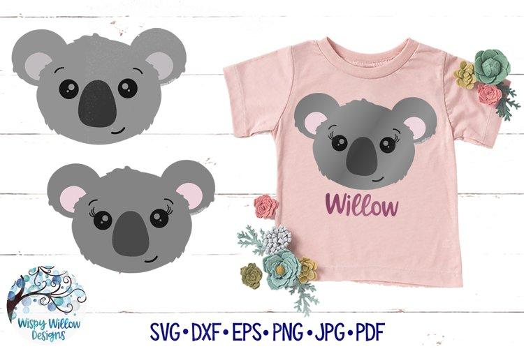 Koala Face SVGs | Girl and Boy Koala SVGs example image 1