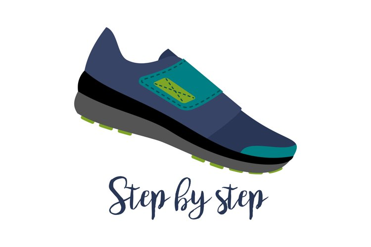 Shoes with text step by step example image 1