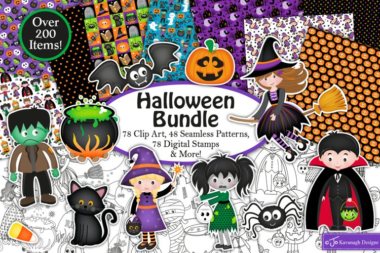 Halloween bundle, Halloween graphics & Illustrations