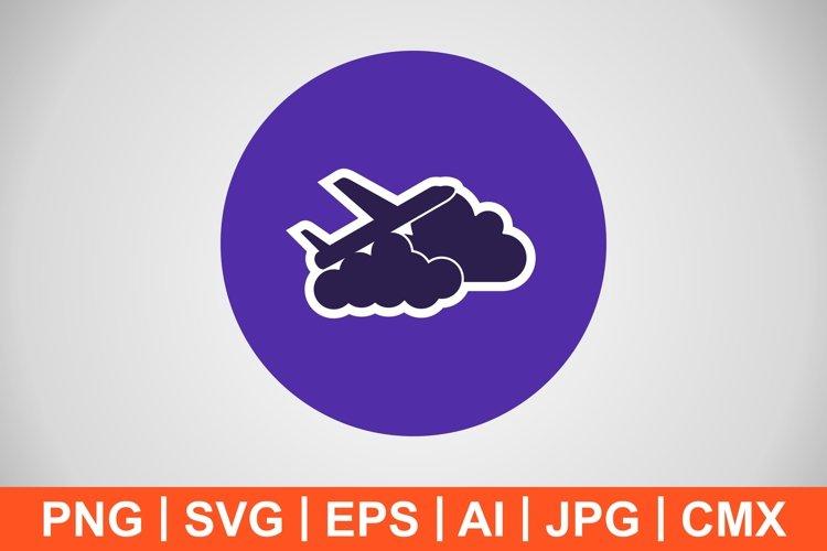 Vector Plane cloud Icon example image 1
