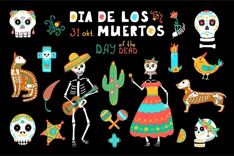 Day of the Dead clipart - Mexican Holiday Dia de los Muertos example image 1