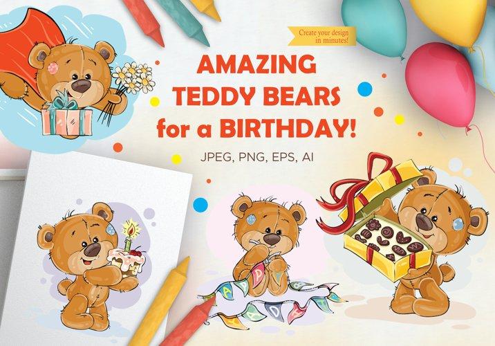 Lovely teddy bears. Happy Birthday.