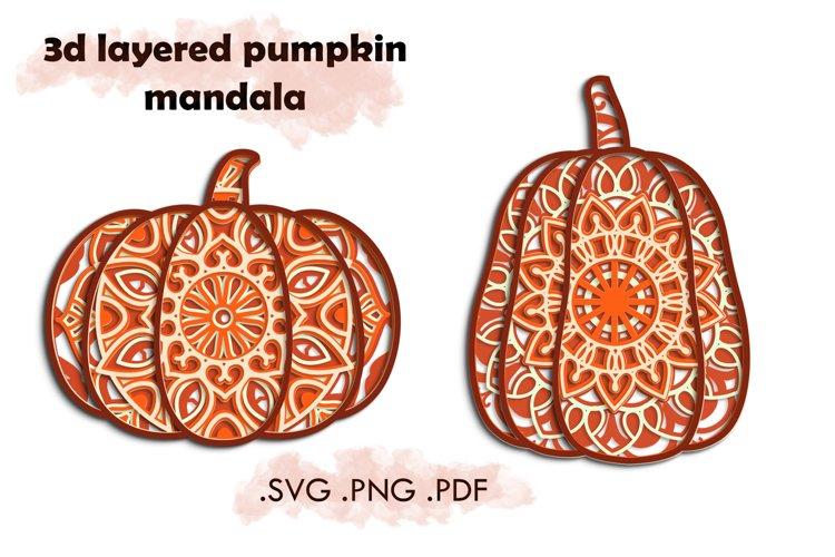 3d Pumpkin Mandala svg - Layered 3d Mandala