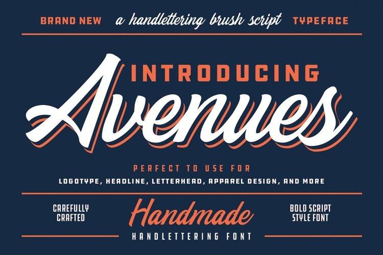 Web Font Avenues example image 1