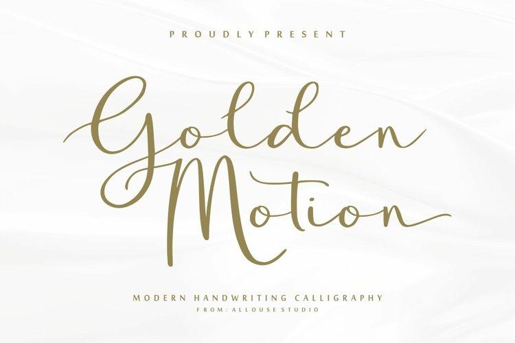 Web Font - Golden Motion example image 1