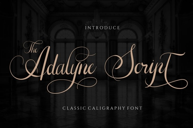 The Adelyne Script Weding Font example image 1