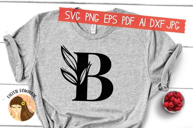 B - Floral Letter Design Svg