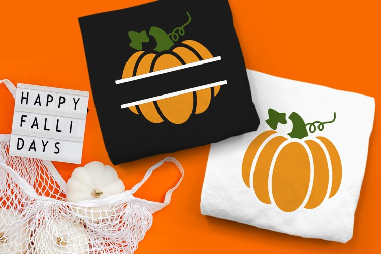 Pumpkin Split SVG Design