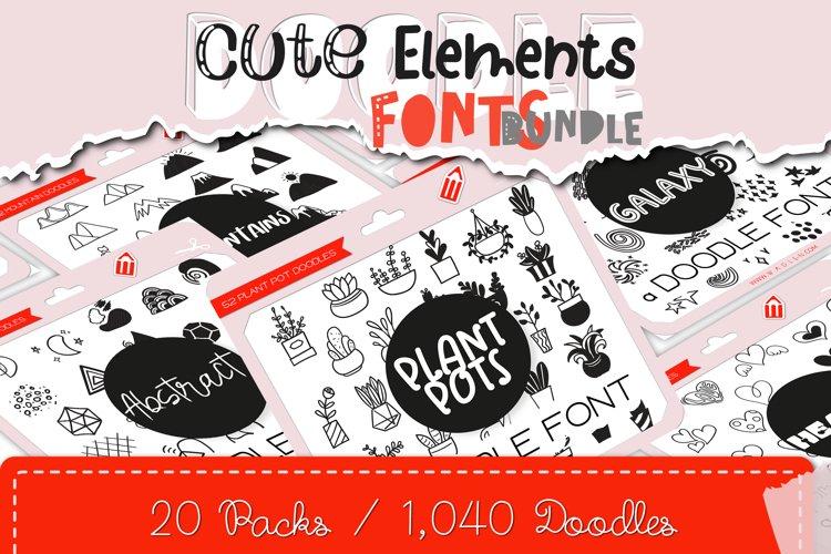 Cute Elements Bundle - Over 1,000 Decorative Doodles example image 1