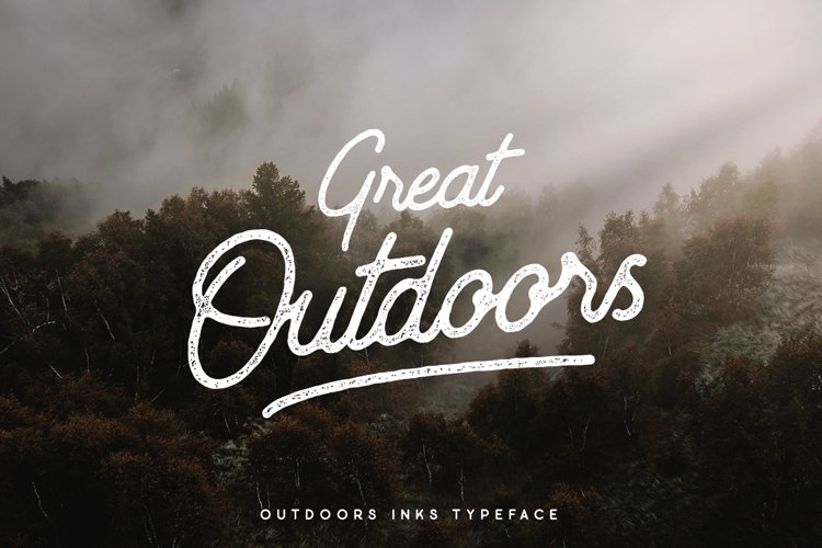 Outdoors Inks Script example image 1