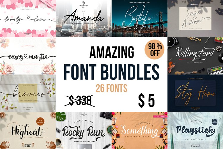 AMAZING FONT BUNDLES - LIMITED TIME ONLY example image 1