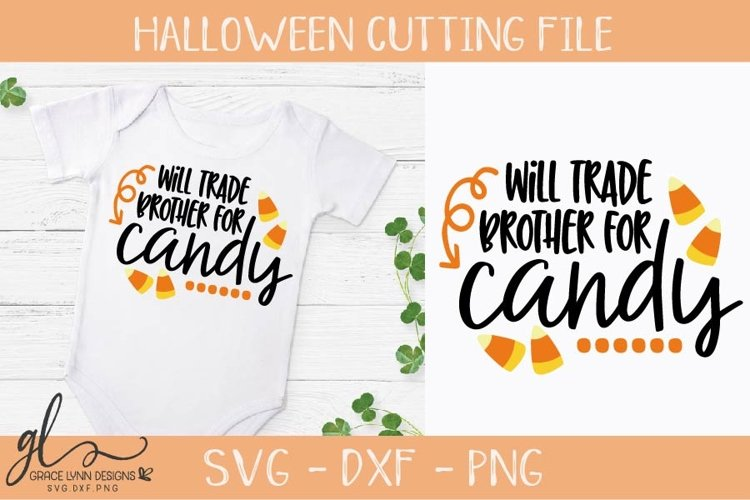 Will Trade Brother For Candy - Halloween Cutting File example image 1