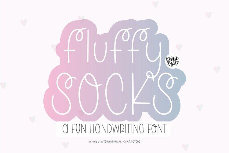 FLUFFY SOCKS Whimsical Handwriting Font example image 1