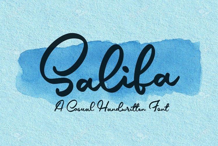 Salifa - Script Font example image 1