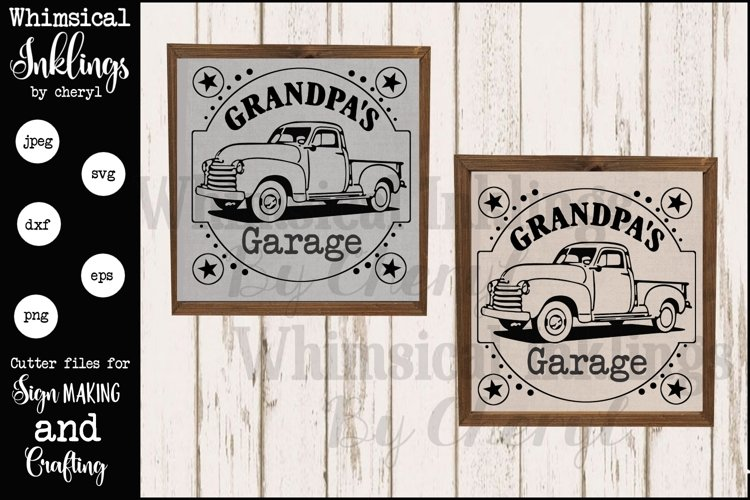 Grandpas Garage version 2 SVG example image 1