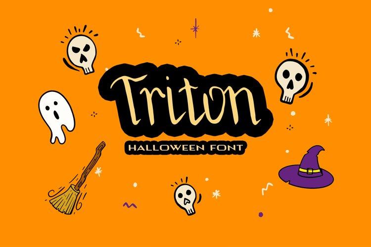 Triton Halloween Font example image 1