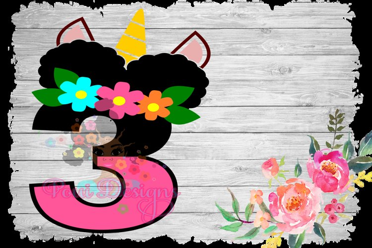 Afro Unicorn Puffs For Spring Magical Birthday Girly