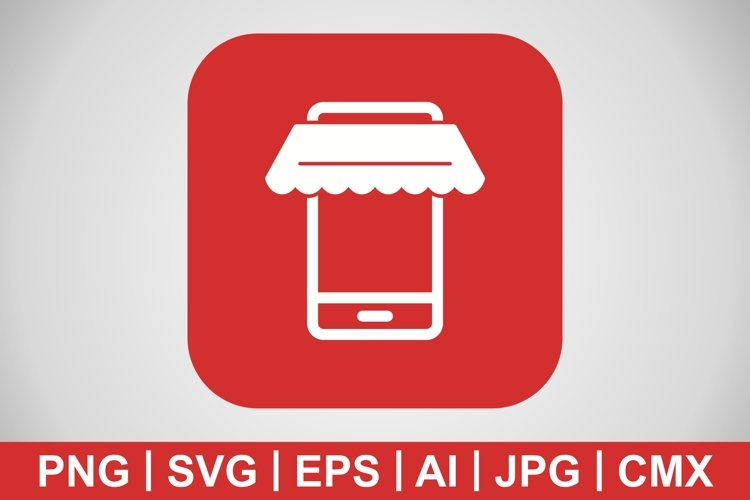Vector Online Shopping Icon example image 1