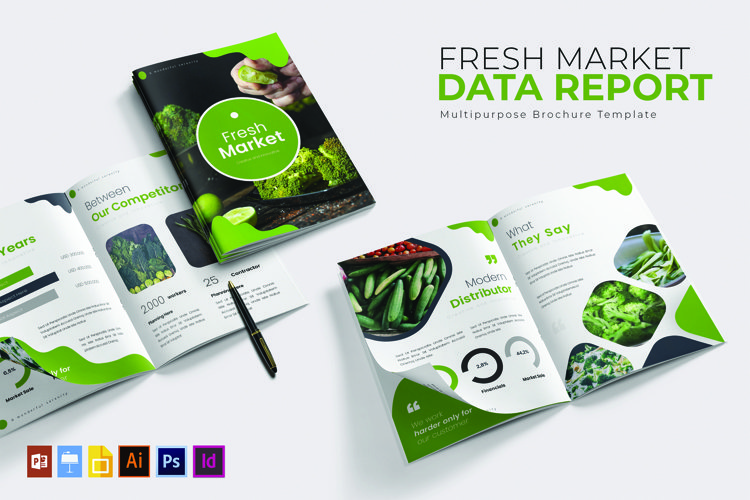 Fresh Market Data | Report Template example image 1