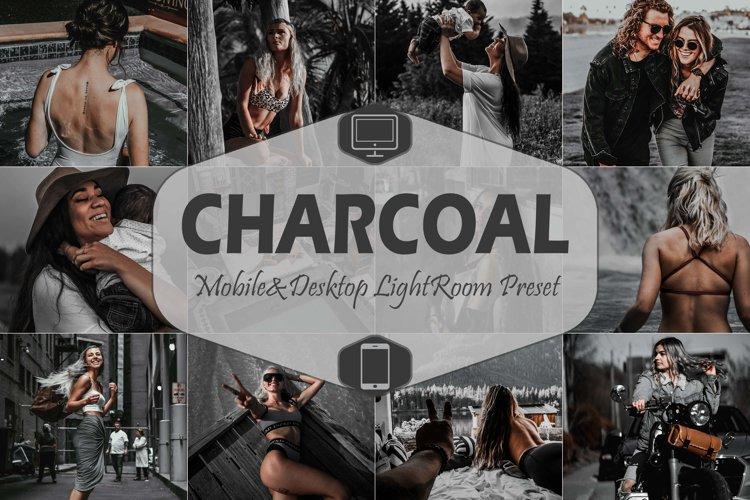 10 Charcoal Mobile & Desktop Lightroom Presets, Black White
