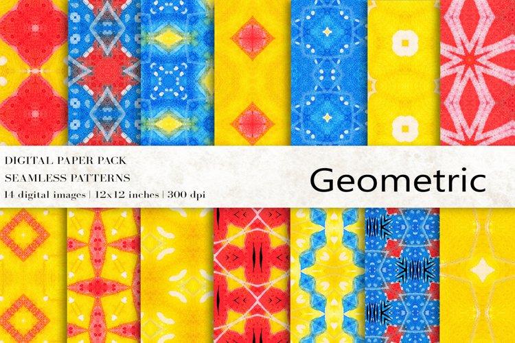 Geometric Digital Papers, Boho Patterns