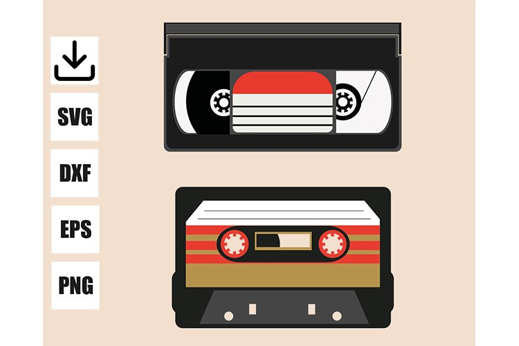 Vintage cassette VHS and audio example image 1