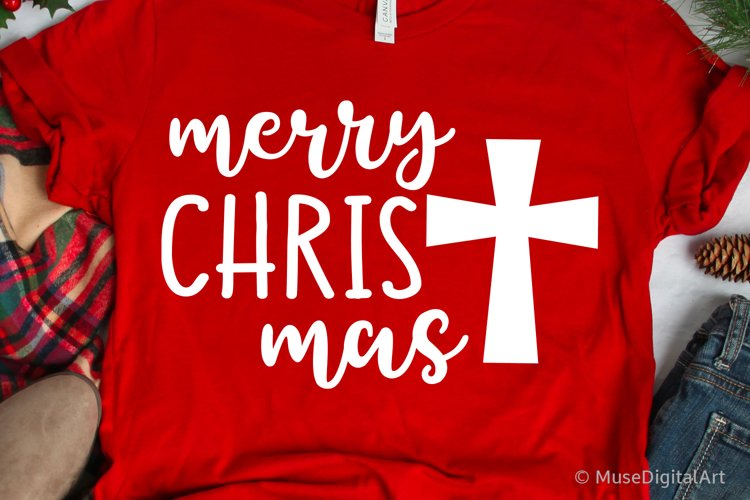 Merry Christmas Svg, Christian Svg, Christmas Cross Svg