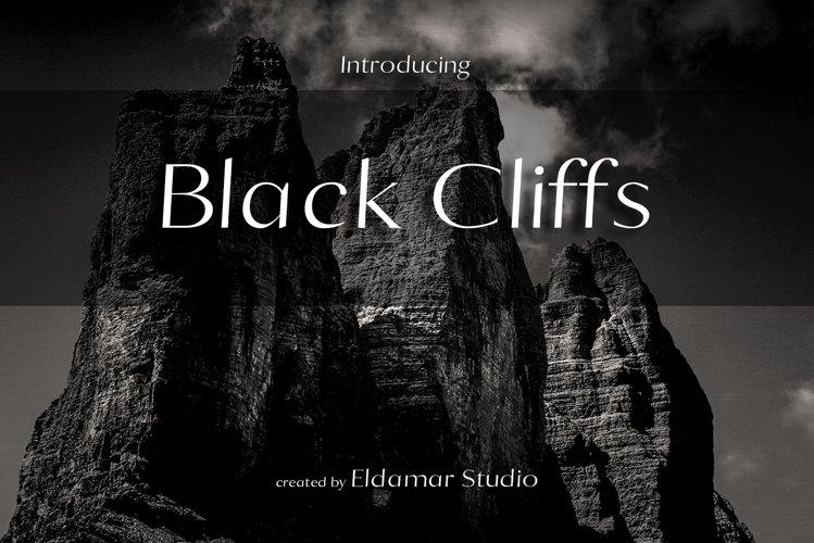 Black Cliffs Font example image 1
