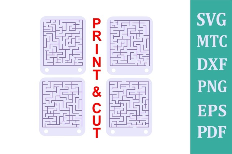 Download Crayon Holder Round Square 1 Crayons 4 Maze Games A2 Card 659502 Party Design Bundles