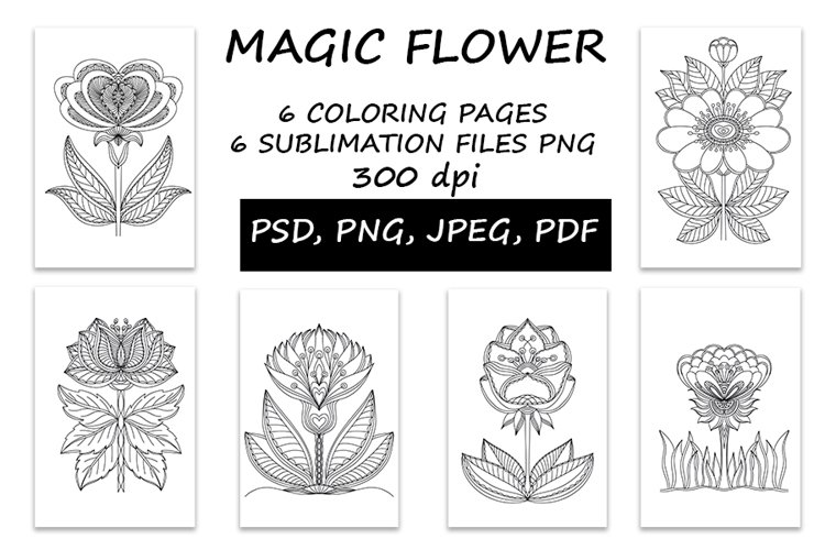 Magic Flowers, Coloring and Sublimation