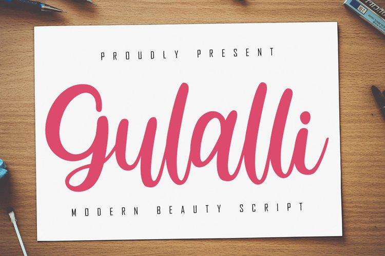 Gulalli Modern Script example image 1