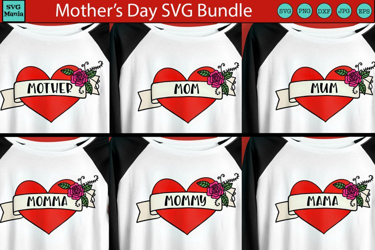 Mothers Day SVG Bundle, Mom SVG Bundle, Mom Heart Tattoo