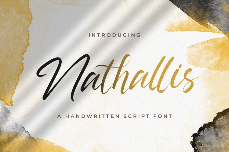 Nathallis - Handwritten Font example image 1