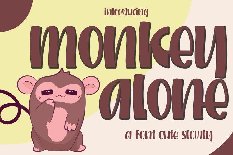 Monkey alone example image 1