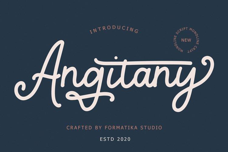 Angitany Monoline Script example image 1
