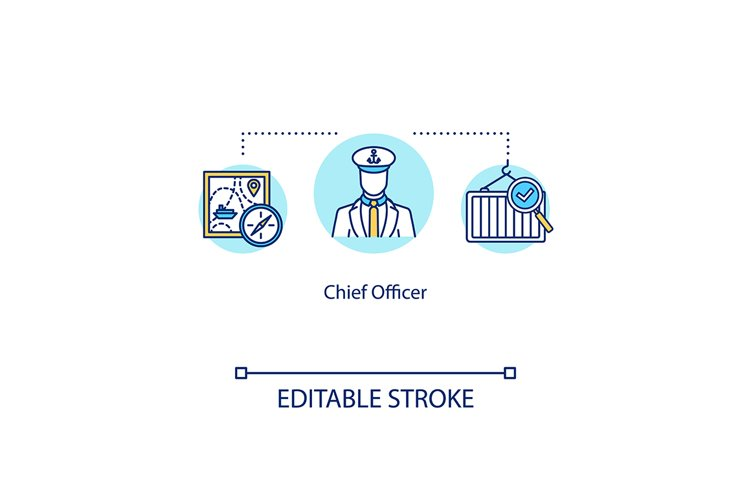 Chief officer concept icon example image 1