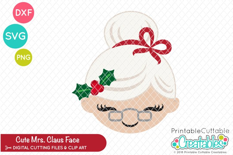 Cute Mrs. Claus Face SVG example image 1