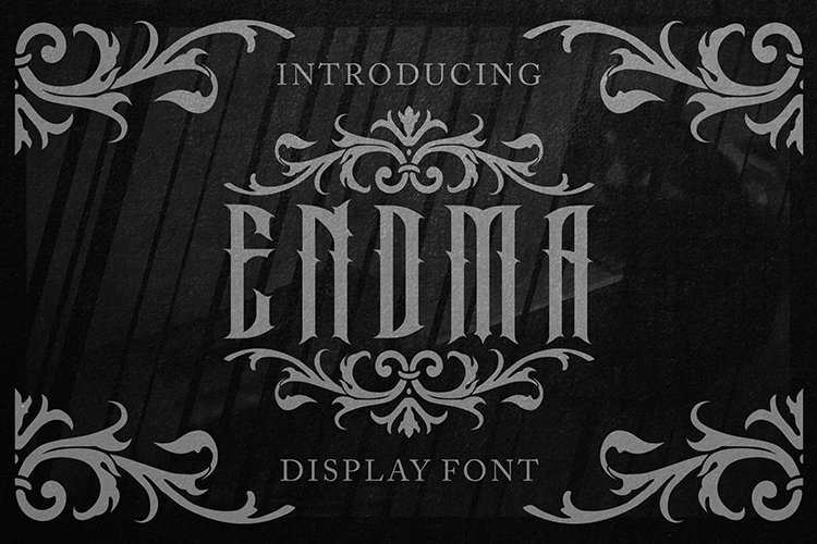Endma Display Font example image 1