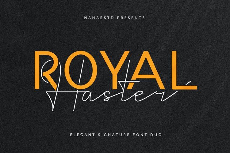 Royal Haster - Elegant Signature Font Duo example image 1