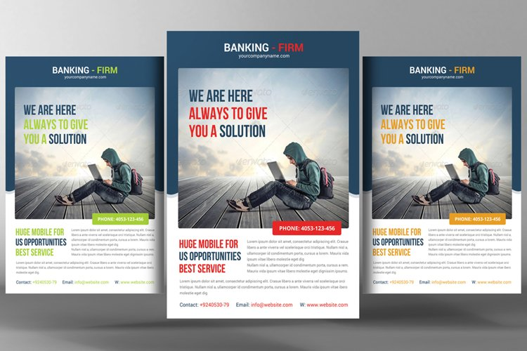 Banking Business Flyer Template example image 1