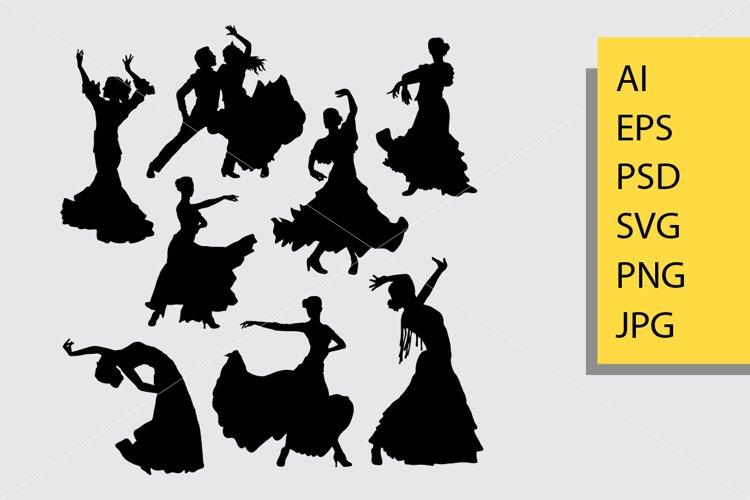 Flamenco dance silhouette example image 1