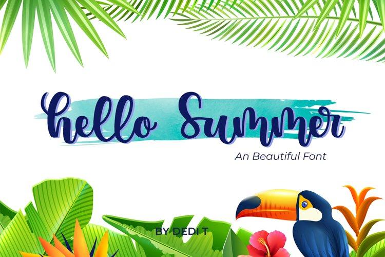 Hello Summer Font