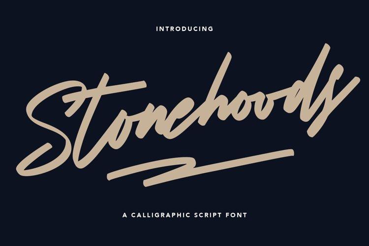 Stonehoods Calligraphic Script Font example image 1
