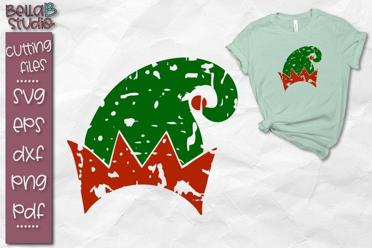 Grunge SVG, Distressed SVG, Elf Hat Svg, Christmas Svg example image 1