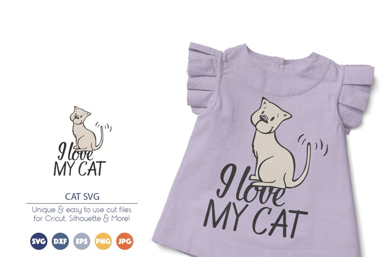 I Love My Cat SVG | Pets SVG example image 1