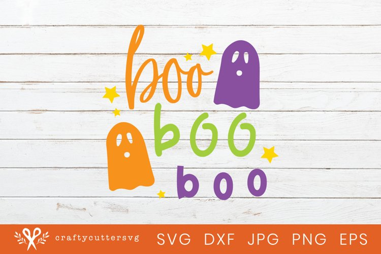 Halloween Svg Cut Happy Boo Boo Boo Quote Ghost Clipart example image 1