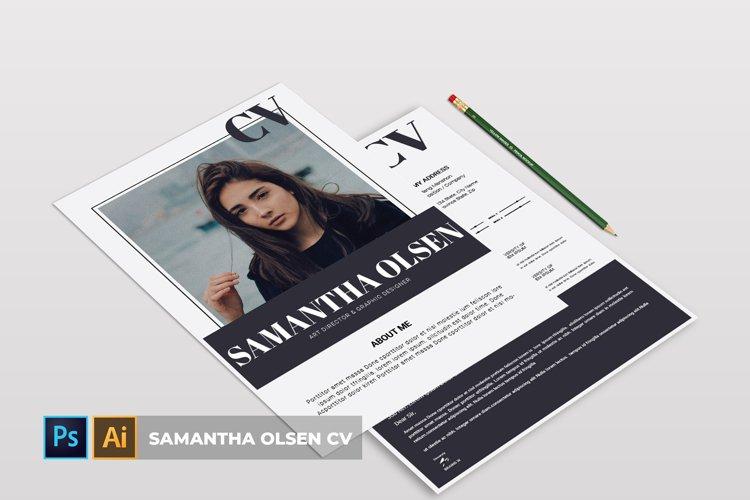 Samantha Olsen | CV & Resume example image 1